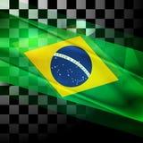 Vector design of Brazilian flag. Concept vector design of Brazilian flag Royalty Free Stock Photography