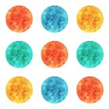 Vector design bright wrinkled elements Stock Photo