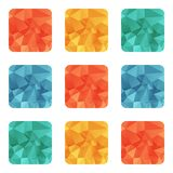 Vector design bright wrinkled elements Stock Photos