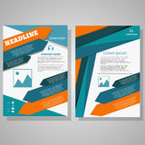 Vector design Brochure Flyer design Layout template, size A4. Front page and back page eps 10 Royalty Free Stock Image