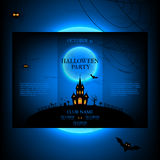 Vector design of the brochure for halloween Stock Photography