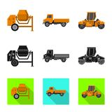 Isolated object of build and construction symbol. Set of build and machinery vector icon for stock. Vector design of build and construction sign. Collection of vector illustration