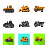 Vector design of build and construction symbol. Set of build and machinery vector icon for stock. Vector illustration of build and construction sign. Collection vector illustration
