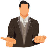 Vector design of businessman in suit Stock Photography