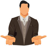 Vector design of businessman in suit Stock Images