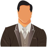 Vector design of businessman in suit Royalty Free Stock Images