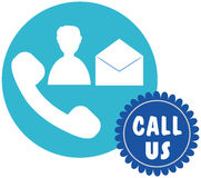 Vector design of call us icon Royalty Free Stock Image