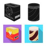 Isolated object of can and food icon. Collection of can and package stock symbol for web. Vector design of can and food symbol. Set of can and package stock stock illustration