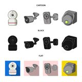 Vector design of cctv and camera logo. Set of cctv and system vector icon for stock. royalty free illustration