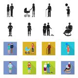 Isolated object of character and avatar symbol. Set of character and portrait stock symbol for web. Vector design of character and avatar sign. Collection of stock illustration