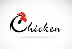 Vector design chicken is text Royalty Free Stock Photos