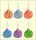 Vector design of Christmas ball for invite Royalty Free Stock Photography