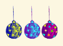 Vector design of Christmas ball for invite Stock Image