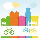 Vector design cocnept with modern buildings Stock Image