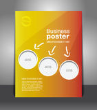Vector design color flyer with place for image Royalty Free Stock Photo