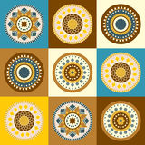 Vector design with colour circles. Seamless background with flourish dots circles royalty free illustration