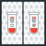 Vector design concept for zika virus positive and negative test. Royalty Free Stock Image