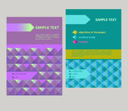 Vector design cover, flyer geometrical abstract Stock Image