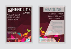 Vector design for Cover Report Annual Brochure Flyer Poster in A Stock Images
