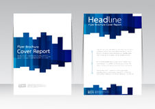 Vector design for Cover Report Annual Flyer Poster in A4 size Stock Image