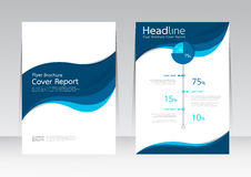 Vector design for Cover Report Annual Flyer Poster in A4 size Royalty Free Stock Image