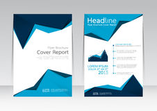 Vector design for Cover Report Brochure Flyer Poster in A4 size Stock Images