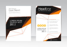 Vector design for Cover Report Brochure Flyer Poster in A4 size Royalty Free Stock Image