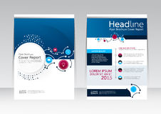Vector design for Cover Report Brochure Flyer Poster in A4 size Royalty Free Stock Photo