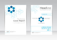 Vector design for Cover Report Brochure Flyer Poster in A4 size. Vector design technology business for Cover Report Annual Brochure Flyer Poster in A4 size Royalty Free Stock Photos