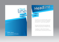 Vector design for Cover Report Brochure Flyer in A4 size Stock Image