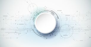 Vector design 3d paper circle with circuit board. Abstract modern futuristic, engineering, science, technology background. Vector design 3d paper circle with vector illustration