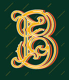 Vector design about decorated alphabet letter B Stock Images