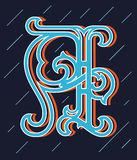 Vector design about decorated alphabet letter A Royalty Free Stock Photography