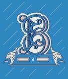 Vector design about decorative alphabet letter B Stock Photos