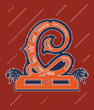 Vector design about decorative alphabet letter C Royalty Free Stock Image