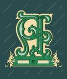 Vector design about decorative alphabet letter A Stock Photography