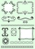 Vector design decorative elements. Black and white Vector design decorative elements royalty free illustration