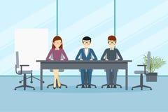 Vector Design der Verzeichnissitzung oder -managements im Büro lizenzfreie stockbilder