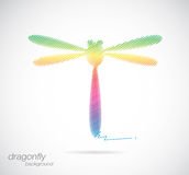 Vector design of dragonfly Royalty Free Stock Photography