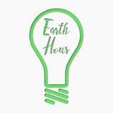 Vector design of Earth Hour for Design or Website, Background, Banner. Eco Energy Save Concept Element with Lamp in Royalty Free Stock Images