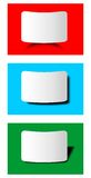 Vector design element - empty label with shadow on colored area Royalty Free Stock Images