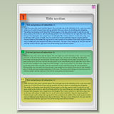 Vector design element of a simple page for text. Royalty Free Stock Photography