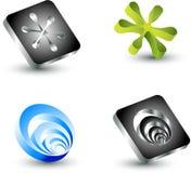 Vector design elements. Elegant 3d vector design elements for logo Stock Image