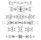 Vector design elements. Black header line elements isolated on white background Royalty Free Stock Images