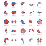 Vector design elements. Set of 20 design elements and various graphics Stock Photo