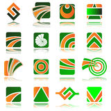 Vector design elements. Set of 16 design elements and various graphics Stock Images