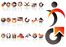 Vector design elements. Abstract vector set of design and logo elements Royalty Free Illustration