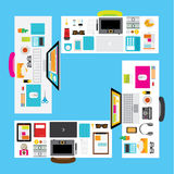 Vector Design Elements for Business Office Workplace Royalty Free Stock Images