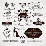 Vector design elements and calligraphic page decor Stock Image