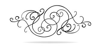 Vector design elements with fancy curls and swirls Stock Photography